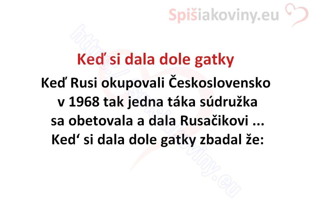 ked-si-dala-dole-gatky